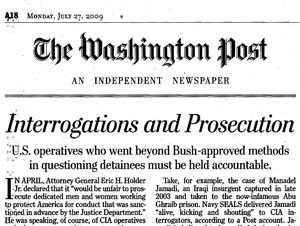 "The Washington Post's Aversion to the Word ""Torture"""