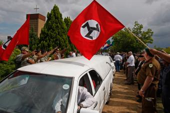 Thousands of Followers of Terreblanche Supremacist Leader Dismissed him with a Nazi Salute