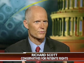 Video: Convicted GOP Fraud & Health Care Astroturfer Rick Scott Launches Bid For Florida Gov … Directs Contributions to his Investment Firm …