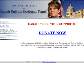 Sarah Palin to Refund Defense Fund Money Ruled Illegal