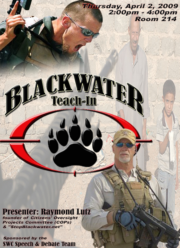 Obama Won't Charge Blackwater with Violation of Sudan Sanctions