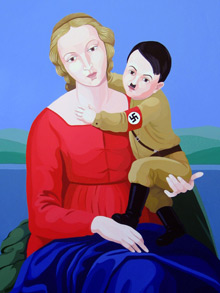 Italian Artist Sparks Controversy with Hitler Pictures