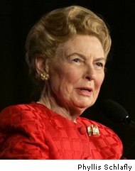 American Fascism's Continuing Assault on 'Useless Eaters': Phyllis Schlafly Smears 'Unmarried Moms' Receiving Unemployment Benefits