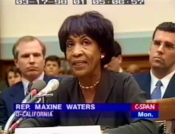 The Trials of Rep. Maxine Waters: Payback from Ethics Committee Chair PORTER GOSS for Blowing the Whistle on CIA & Crack Cocaine in SC Los Angeles?