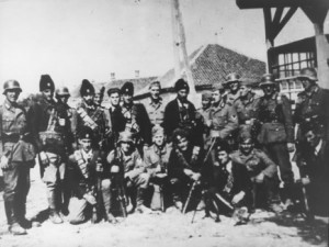 Serbian Chetniks and German Nazi Fascists in World War II 465x350 300x225 Serbian Nazi Collaborators of WW II