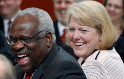 Wife of Clarence Thomas Stepping Down from Far-Right Think Tank