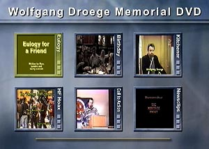 Wolfgang Droege's 2005 Obituary