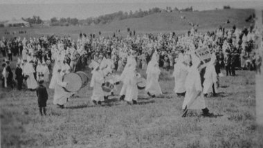 Peek Through Time: KKK Stages Huge Statewide Fourth of July Rally in Jackson, Michigan in 1924