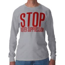 "Order a  ""Stop Voter Suppression"" Shirt Online"