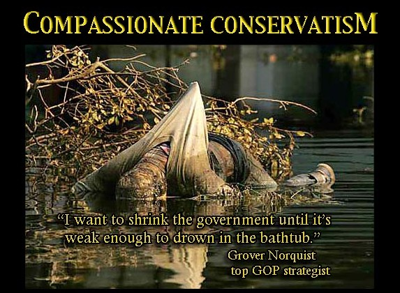 "The Far-Right, Totalitarian Origins of GW Bush's & David Cameron's ""Compassionate Conservatism"" Orwellian Double-Talk Slogan"