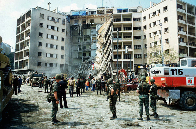 Iranian Accused of Overseeing Embassy Bombing in Lebanon Under CIA Protection in U.S., Book Says (NY Times)
