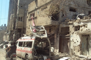 Shuja'ya civil defence ambulance hit 21 July, where medic was killed