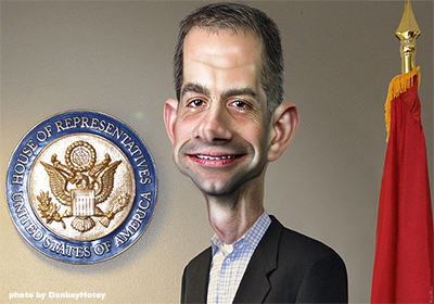 Seditious, Sabre-Rattling Neocon  Sen. Cotton is Funded by Abrams, Adelson & Kristol