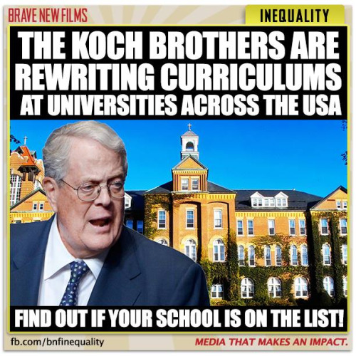 Koch Funding of Universities Shrouded in Secrecy