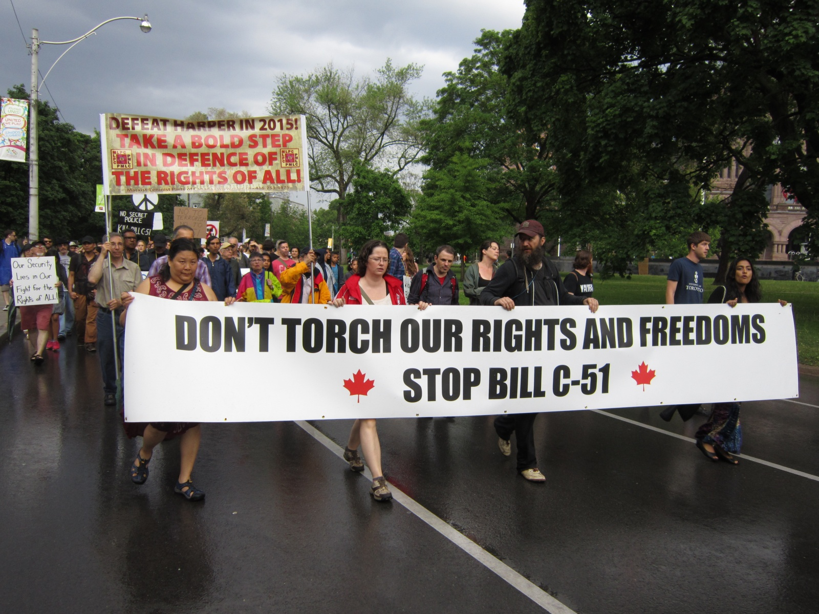 Bill C-51 and 'Fascist Shift' in Canada Decried at Toronto Rally