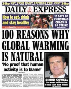 Global Warming Denial Case Notes