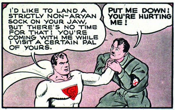 The Day the Nazi SS Attacked SUPERMAN!